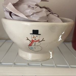 Rae Dunn 2017 Snowman Dimpled Cereal Bowl